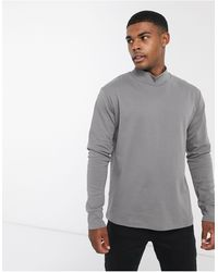 Another Influence Co-ord High Neck Long Sleeve Top - Grey