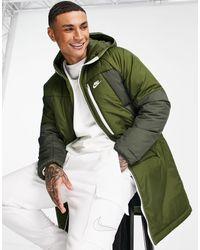 Nike Legacy Insulated Long Parka Coat - Green