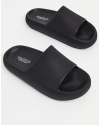 Truffle Collection Pool Sliders - Black