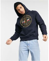 Tommy Hilfiger Hoodie Met Cirkelvormig Icon-logo - Blauw