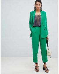 SELECTED - Femme Double Breasted Cigarette Trouser - Lyst