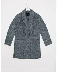 ONLY Lally Boucle Wool Coat - Green