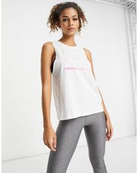 Under Armour Training Sportstyle Graphic Tank - White