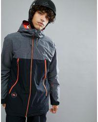 Quiksilver - Sierra Ski Jacket In Black With Contrast Detail - Lyst