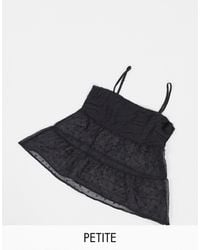 Missguided Chiffon Cami Top - Black