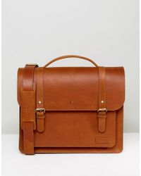 Forbes & Lewis | Leather Satchel In Vintage Leather 15inch | Lyst