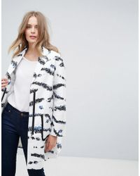 French Connection - Tapir Wave Coat - Lyst