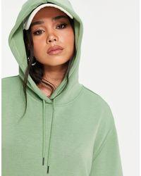 Vila Hooded Sweatshirt Dress - Green