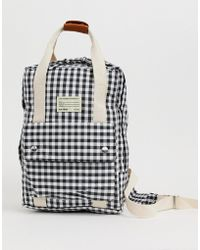 Pull&Bear Top Handle Back Pack In Gingham Print - Multicolour