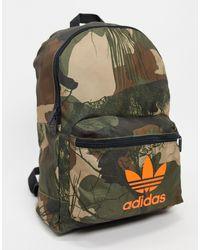 adidas Originals - Рюкзак С Камуфляжным Принтом -зеленый Цвет - Lyst