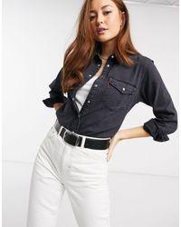 Levi's Черная Джинсовая Рубашка В Ковбойском Стиле -черный Цвет - Многоцветный