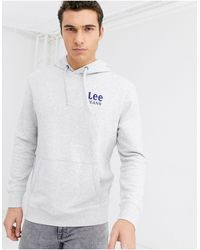 Lee Jeans Jeans Overhead Hoodie With Chest Logo - Grey
