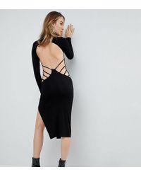 ASOS - Strappy Open Back Midi Bodycon Dress - Lyst