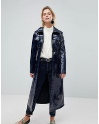 Warehouse - Patent Trench Coat - Lyst