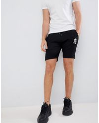 Gym King - Logo Shorts In Black With Side Stripe Taping - Lyst