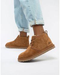 UGG Ботинки Каштанового Цвета На Шнуровке Neumel-светло-коричневый
