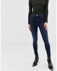River Island Molly Skinny Jeans - Blue