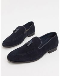Red Tape Suede Tassel Loafers - Blue
