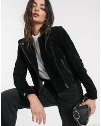 Vero Moda Черная Замшевая Куртка -черный