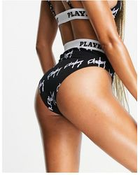 Missguided Playboy High-waist Briefs - Black