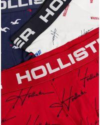 Hollister Confezione da 3 boxer aderenti - Blu