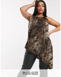 Simply Be Asymmetric Top With Halter Neck - Black