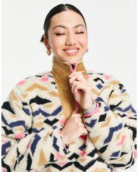 Levi's Разноцветный Пуловер Из Искусственного Меха С Воротником На Молнии Arizona-многоцветный