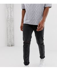 Collusion X001 Skinny Jeans In Washed Black With Rips