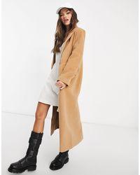 Missguided Бежевое Свободное Пальто В Стиле Oversized -neutral - Естественный
