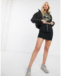 Missguided - Zip Front Mini Skirt - Lyst