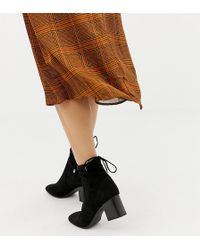 New Look - Sock Block Heel Boot - Lyst