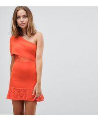 ASOS - Scuba Bodycon Dress With Flippy Hem - Lyst