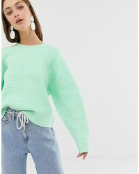 ASOS Textured Knitted Sweater - Green