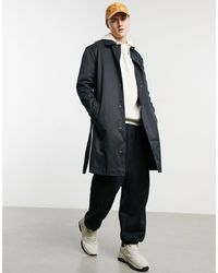 ASOS Single Breasted Trench Coat With Snaps - Black