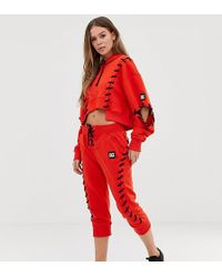 Ivy Park Craft - Joggingbroek Met Rijgveter In Rood