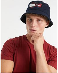 Tommy Hilfiger Bucket Hat - Blauw