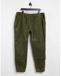 New Look Pantalon cargo en velours côtelé - Kaki - Vert