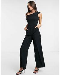 Closet Off Shoulder Jumpsuit - Black
