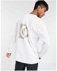 TOPMAN Ltd Long Sleeve T-shirt With Circle Print - White