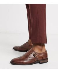 ASOS Wide Fit Monk Shoes - Brown