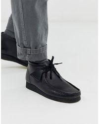 Clarks Wallabee - Leren Laarzen - Zwart