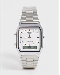 G-Shock Цифровые Часы-браслет В Стиле Унисекс Aq-230a-7dmq Unisex-серебряный - Металлик