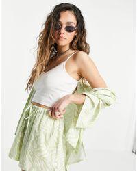 TOPSHOP Pretty Cami Vest - White