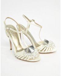 ASOS - Asos Honey Bloom Bridal Embellished Heeled Sandals - Lyst