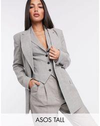 ASOS Серо-коричневый Пиджак От Костюма Из 3 Предметов - Серый