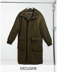 Reclaimed (vintage) Удлиненная Дутая Куртка -зеленый