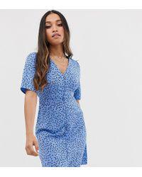 Vero Moda Jurk Met Bloemenprint - Blauw