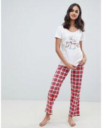 Boux Avenue - Ivory Reindeer And Fairisle Pyjama Set - Lyst