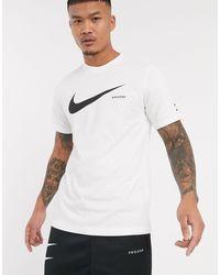 Nike T-shirt Met Swoosh-logo - Wit