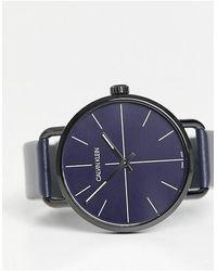 Calvin Klein Reloj con correa y esfera negra - Negro